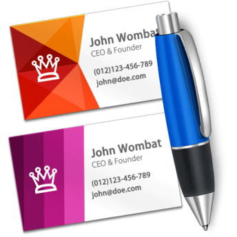 Business card designer wombat apps business card designer is the easiest way to create effective business cards in minutes youll be making great looking professional cards even if you colourmoves