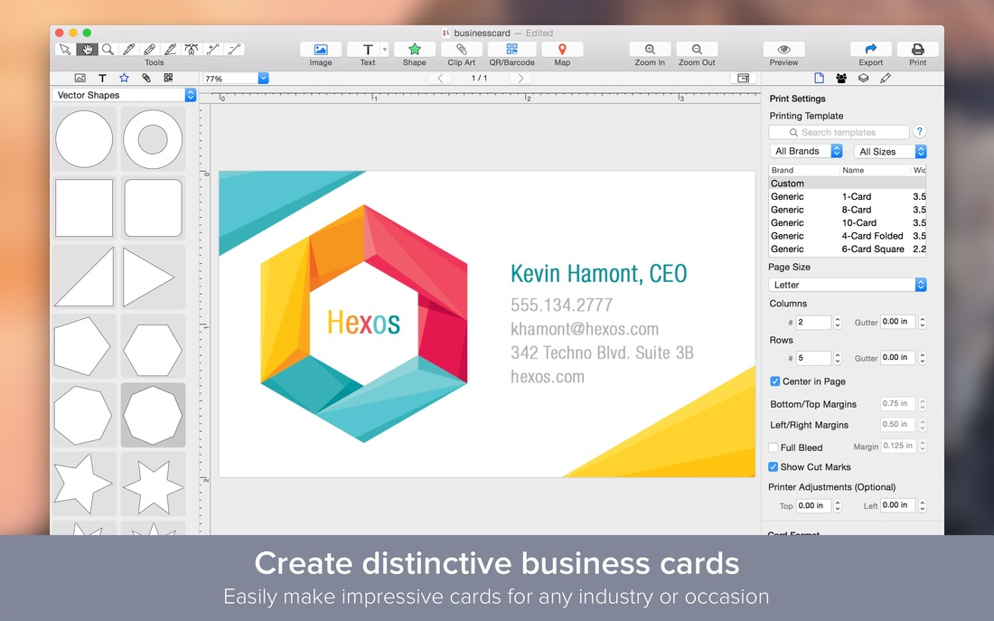 Best Business Card Design App For Mac: Business Card Designer - Wombat Appsrh:wombatapps.com,Design